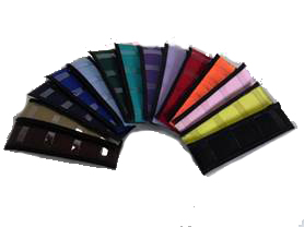 Multi color rainbow neck pads